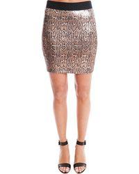 Roseanna Berline Jupe Python Skirt - Brown