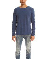 Massimo Alba Henleys Long Sleeve T-shirt - Blue