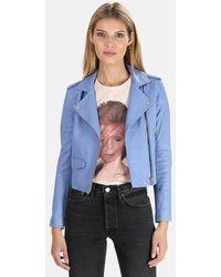 IRO Ashville Leather Jacket - Blue