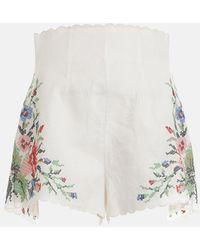 Zimmermann Juliette Cross Stitch Short - White