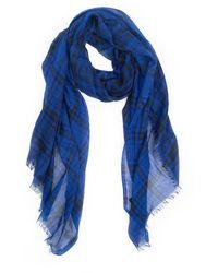 Lanvin Plaid Scarf - Blue