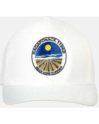 Blue & Cream Sagaponack Snapback Hat - White
