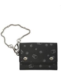 Lucien Pellat Finet Chain Wallet - Black