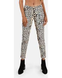 ATM Leopard Print Slim Trousers - Black