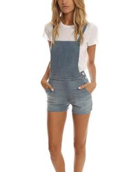 Mother | Swooner Short Overall | Lyst