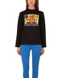 Lucien Pellat Finet - Keith Haring Jacquard Dog Sweater - Lyst