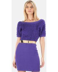 3.1 Phillip Lim 3.1 3/4 Dolman Sleeve Crewneck Dress - Purple