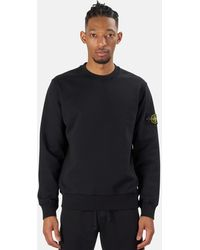 Stone Island Garment Dyed Crewneck Sweater - Black