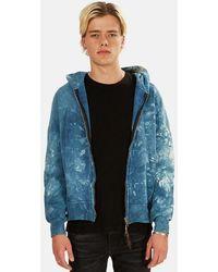 Remi Relief Zip Hoodie Sweater - Blue