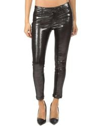 RTA - Prince Metallic Leather Pant - Lyst