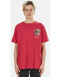 Maharishi Ghost Dragon Graphic T-shirt - Pink