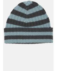Warm-me Eric Stripe Hat - Blue