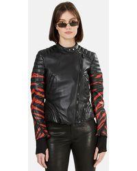 3.1 Phillip Lim 3.1 Peplum Motorcycle Jacket - Black