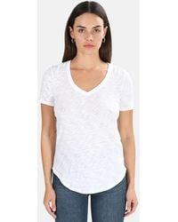 ATM V Neck Classic T-shirt - White