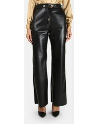 Nanushka Kisa Vegan Leather Pants - Black
