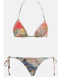 Zimmermann Juliette Mini Tri Bikini Swimwear - Multicolour