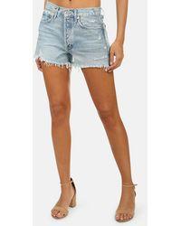 Agolde Parker Vintage Cut Off Short Skirt - Blue