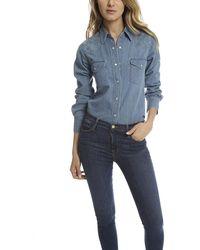 Lucien Pellat Finet Western Shirt - Blue