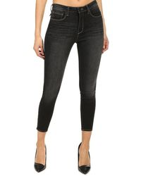 L'Agence Margot High Rise Skinny Trousers - Black