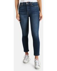 RE/DONE Comfort Stretch High Rise Crop Jeans - Blue