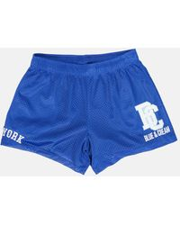 Blue & Cream New York Mesh Shorts - Blue
