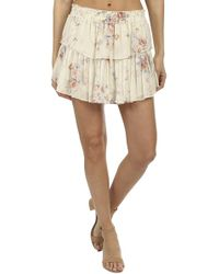 LoveShackFancy - Ruffle Mini Skirt - Lyst