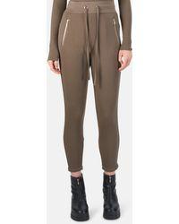 The Range Alloy Rib Zip Trousers - Brown