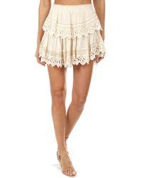 LoveShackFancy Ruffle Mini Skirt - Natural
