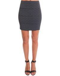 Pleasure Doing Business Stars Banded Mini Skirt - Blue