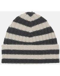 Warm-me Eric Stripe Hat - Gray