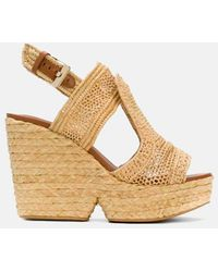 Clergerie Robert Dypaille Wedge Sandal Shoes - Metallic