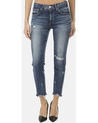 Moussy Vintage Mv Glendale Skinny Jeans - Blue