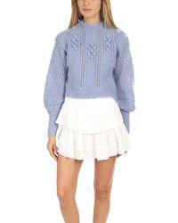 LoveShackFancy Persephone Sweater - Blue