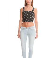 American Retro - Tina Cropped Top - Lyst