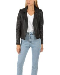 IRO Newhan Leather Jacket - Black