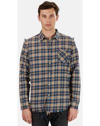 R13 Shredded Seam Shirt - Blue