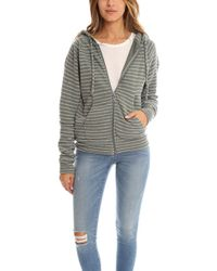 V :: Room - Heather Fleece Zip Hoody - Lyst