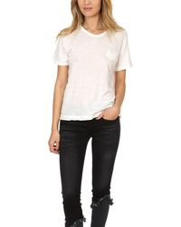 V :: Room Melange V Neck Classic T-shirt - Natural