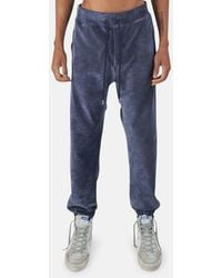 WHEELERS.V Bowery Velour Cord Trousers - Blue