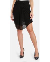 Alexander Wang Silk Crepe Skirt - Black