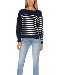 3.1 Phillip Lim Sailor Pullover With Silk Back Sweater - Blue
