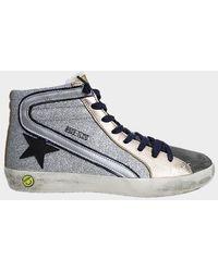 Golden Goose Deluxe Brand Slide Sneaker - Metallic