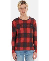 IRO Henleys Marvina Buffalo Check T-shirt - Red