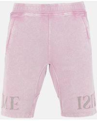 Stone Island Garment Dyed Fleece Bermuda Shorts - Pink