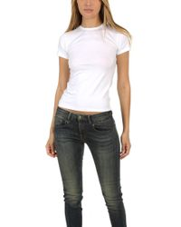 ATM - Jersey Baby Tee White - Lyst