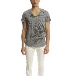 3.1 Phillip Lim V-neck Pocket T-shirt With Rose - Gray