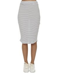 Monrow - Stripe Rib Pencil Skirt - Lyst