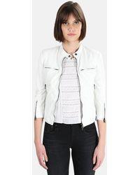 R13 Cafe Racer Leather Jacket - White