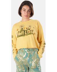 Mother - Slouchie Cutoff Sweatshirt Sweater - Lyst