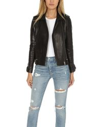 IRO - Dumont Leather Jacket - Lyst